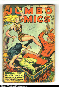 Jumbo Comics #102 (Fiction House, 1947) Condition: GD/VG. Matt Baker and Jack Kamen art. Overstreet 2003 GD 2.0 value =...