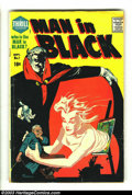Silver Age (1956-1969):Horror, Man in Black #1 (Harvey, 1957) Condition: VG. Bob Powell cover andart. Overstreet 2003 VG 4.0 value = $36....
