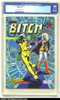 Mean Bitch Thrills #1 (Print Mint, 1971) CGC NM- 9.2 Cream to off-white pages. Underground. Spain art. Overstreet does n...