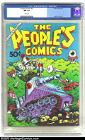 Modern Age (1980-Present):Alternative/Underground, The People's Comics #nn (Golden Gate, 1972) CGC NM 9.4 White pages.Underground. Robert Crumb art. No values are listed in O...