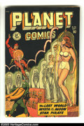 Golden Age (1938-1955):Science Fiction, Planet Comics #56 (Fiction House, 1948) Condition: FR. Matt Baker, George Evans, Graham Ingels, and Maurice Whitman art. Ins...