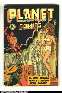Planet Comics #56 (Fiction House, 1948) Condition: FR. Matt Baker, George Evans, Graham Ingels, and Maurice Whitman art...