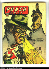 Punch Comics #10 (Chesler, 1944) Condition: GD. Jack Cole art. Cover detached. Overstreet 2003 GD 2.0 value = $61