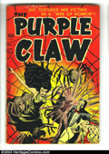 Golden Age (1938-1955):Superhero, Purple Claw #2 (Minoan Publishing Co., 1953) Condition: GD+. Tape inside spine and covers, one piece on centerfold. Overstre...