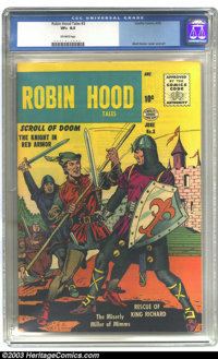 Robin Hood Tales #3 (Quality, 1956) CGC VF+ 8.5 Off-white pages. Matt Baker cover and art. Overstreet 2003 VF 8.0 value...