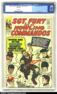 Sgt. Fury and His Howling Commandos #12 (Marvel, 1964) CGC VF 8.0 Off-white pages. Dick Ayers art. Overstreet 2003 VF 8...