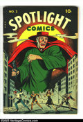 Golden Age (1938-1955):Superhero, Spotlight Comics #2 (Chesler, 1945) Condition: FN. Overstreet 2003 FN 6.0 value = $110....