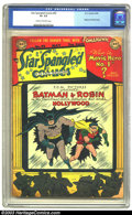 Golden Age (1938-1955):Superhero, Star Spangled Comics #92 (DC, 1949) CGC GD+ 2.5 Cream to off-white pages. Batman and Robin story and cover. A tough book to ...