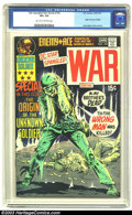 Bronze Age (1970-1979):War, Star Spangled War Stories #154 (DC, 1971) CGC VF+ 8.5 Light tan to off-white pages. Origin Unknown Soldier. Joe Kubert cover...
