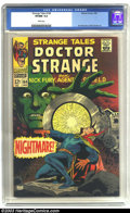 Silver Age (1956-1969):Horror, Strange Tales #164 (Marvel, 1968) CGC VF/NM 9.0 White pages. DoctorStrange and Nick Fury. Jim Steranko and Bill Everett art...