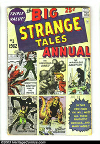 Strange Tales Annual #1 (Marvel, 1962) Condition: GD. Pre-hero monster stories. Possibly the first Marvel annual. Overst...