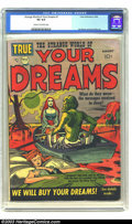 Golden Age (1938-1955):Science Fiction, Strange World of Your Dreams #1 (Prize, 1952) CGC VG 4.0 Cream tooff-white pages. Joe Simon and Jack Kirby art. Impossible ...