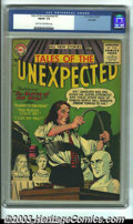 Silver Age (1956-1969):Horror, Tales of the Unexpected #3 Big Apple Pedigree (DC, 1956) CGC FN/VF 7.0 Light tan to off-white pages. Overstreet 2003 FN 6.0 ...