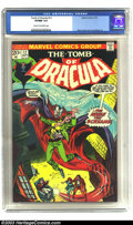 Bronze Age (1970-1979):Horror, Tomb of Dracula #12 (Marvel, 1973) CGC VF/NM 9.0 Cream to Off-whitepages. Marvel's own version of the Prince of Darkness fl...