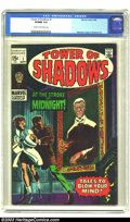 Silver Age (1956-1969):Horror, Tower of Shadows #1 (Marvel, 1969) CGC VF/NM 9.0 Cream to off-whitepages. Jim Steranko, Johnny Craig, and John Buscema art....