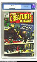 Bronze Age (1970-1979):Horror, Where Creatures Roam #1 (Marvel, 1970) CGC NM- 9.2 Off-white towhite pages. Jack Kirby and Steve Ditko reprints. There is c...