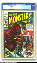 Bronze Age (1970-1979):Horror, Where Monsters Dwell #3 (Marvel, 1970) CGC NM- 9.2 Off-white pages.Marie Severin cover. According to CGC's current census, ...