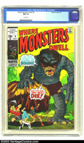 Bronze Age (1970-1979):Horror, Where Monsters Dwell #9 (Marvel, 1971) CGC NM 9.4 White pages. Morepre-superhero monster tales for you, featuring art by Ja...