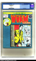 Modern Age (1980-Present):Alternative/Underground, Worm Magazine #2 (Clandestine Comics Co., 1973) CGC VF/NM 9.0 White pages. Here's a very obscure Underground book featuring ...