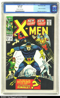 X-Men #39 (Marvel, 1967) CGC VF+ 8.5 Off-white to white pages. X-Men in new costumes. George Tuska cover, Don Heck art...