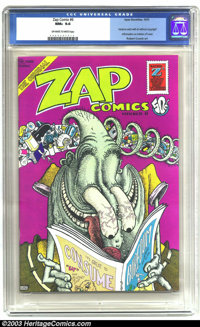 Zap Comix #6 (Apex Novelties, 1973) CGC NM+ 9.6 Off-white to white pages. Underground. Gilbert Shelton cover, Robert Cru...