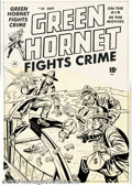 Original Comic Art:Covers, Al Avison - Original Cover Art for Green Hornet Comics #35 (Harvey,1948). They stand atop a towering bridge, two thugs and ...