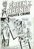 Original Comic Art:Covers, Al Avison - Original Cover Art for Green Hornet Comics #40 (Harvey,1949). Two crooks are in for a big surprise, when they s...