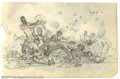 Original Comic Art:Sketches, Frank Frazetta - Original Sketch (undated). Frank Frazetta's lineis almost superhuman in its delicacy and fluidity; it is a...