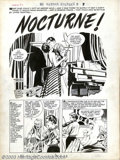 "Original Comic Art:Complete Story, Warren Kremer (attributed) - Original Art for Hi-School Romance#48, Complete 5-page Story ""Nocturne"" (Harvey, 1950s). Music..."