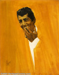 Original Illustration Art:Mainstream Illustration, Ed Balcourt - Original Illustration (c.1960).. Dean Martin, most likely for TV Guide.. Mixed media on board, image size ...
