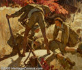 Original Illustration Art:Mainstream Illustration, Dean Cornwell (1892-1960) Original Magazine Story Illustration(1936).. Cosmopolitan September, 1936, for The Short Ha...