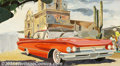 Original Illustration Art:Mainstream Illustration, Ken Cowhey - Attributed - Original Advertising Art (1960).. For the1960 Buick.. Gouache on board, image size approximately ...