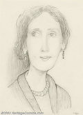 Original Illustration Art:Mainstream Illustration, Maxon Crumb - Original Illustration (c.1990s).. Graphite study forCrumb's painting of Virginia Woolf which sold in our last...