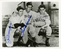 Autographs:Photos, Ted Williams, Joe & Dom DiMaggio Signed Photograph. Yankees andRed Sox, living together in peace. Flawless sharpie signat...