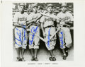 Autographs:Photos, 1941 Brooklyn Dodgers Infield Signed Photograph. Modern print of avintage photo features a rookie Pee Wee Reese and the ot...
