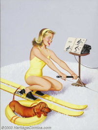 Freeman Elliot - Original Digest Cover Art (1961). Calling All Girls digest magazine, July, 1961. Gouache on board, fr...