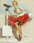 Original Illustration Art:Pin-up and Glamour Art, Gillette Elvgren (1914-1980) Original Pin-up Art (1957).. What aView, published by the Brown & Bigelow Calendar Company...