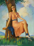Original Illustration Art:Pin-up and Glamour Art, Jules Erbit - Original Pin-up / Glamour Art (1930-1935).. Publishedby the Joseph C. Hoover and Sons Calendar Company, Phila...
