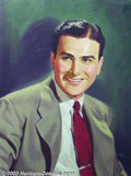 Original Illustration Art:Mainstream Illustration, Albert Fisher - Original Painting.. Portrait of Big Bandleader,Artie Shaw.. Oil on canvas, framed (29 x 23), sight size...