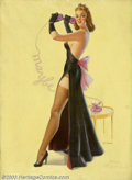 Original Illustration Art:Pin-up and Glamour Art, Art Frahm (1907-1981) Original Pin-up Art (c.1939).. The MaybeGirl has the distinction of being Art Frahm's first publi...(Total: 3 items Item)