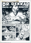 Original Illustration Art:Mainstream Illustration, Cardwell S. Higgins (1902-1983) Original Comic Art (c.1940).. ForDr. Dekkar - Master of Monsters by Cardwell. Six origi...