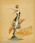 Original Illustration Art:Pin-up and Glamour Art, Cardwell S. Higgins (1902-1983) Original Pin-up / Glamour Art(1920-1930).. Most likely published as a pulp cover, possibly ...