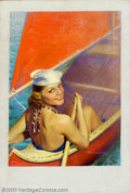 Original Illustration Art:Pin-up and Glamour Art, Robert C. Kauffmann - Original Magazine Cover Art (1937).. LibertyJuly 24, 1937.. Oil on canvas, approximately 35 x 24 ... (Total: 3items Item)