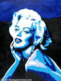 Original Illustration Art:Pin-up and Glamour Art, La Valle - Original Painting (Not dated).. Marilyn Monroe.. Oil oncanvas, approximately 40 x 30. Signed lower left..