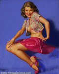 Original Illustration Art:Pin-up and Glamour Art, Earl Steffa Moran (1893-1984) Original Pin-up Art (1954)..Published by the Brown & Bigelow Calendar Company, St. Paul,Minn... (Total: 4 items Item)