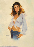 Original Illustration Art:Pin-up and Glamour Art, Mayo Olmstead - Original Pin-up Art (1975).. Hi There!,published by the Brown & Bigelow Calendar Company, St. Paul,Min... (Total: 4 items Item)