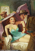 "Original Illustration Art:Pulp, Pulp-like, Digests and Paperback Art, H. L. Parkhurst - Original Pulp Painting (1940).. Spicy Detective for Lady From Hell July, 1940. ""Spicy"" pulps were infa... (Total: 2 items Item)"