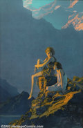 Original Illustration Art:Mainstream Illustration, Maxfield Parrish (1870-1966) Vintage Print (1928)..Contentment, for the 1928 Edison Mazda calendar. Near mint..Print o...