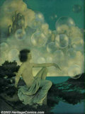 Original Illustration Art:Mainstream Illustration, Maxfield Parrish (1870-1966) Vintage Print (1904).. AirCastles, for cover of The Ladies' Home Journal September, 19...