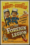 """Movie Posters:Comedy, Abbott and Costello in the Foreign Legion (Universal International,1950). One Sheet (27"""" X 41""""). Comedy...."""